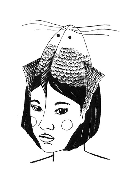 Portrait with Fish
