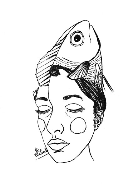 Self-portrait with Fish